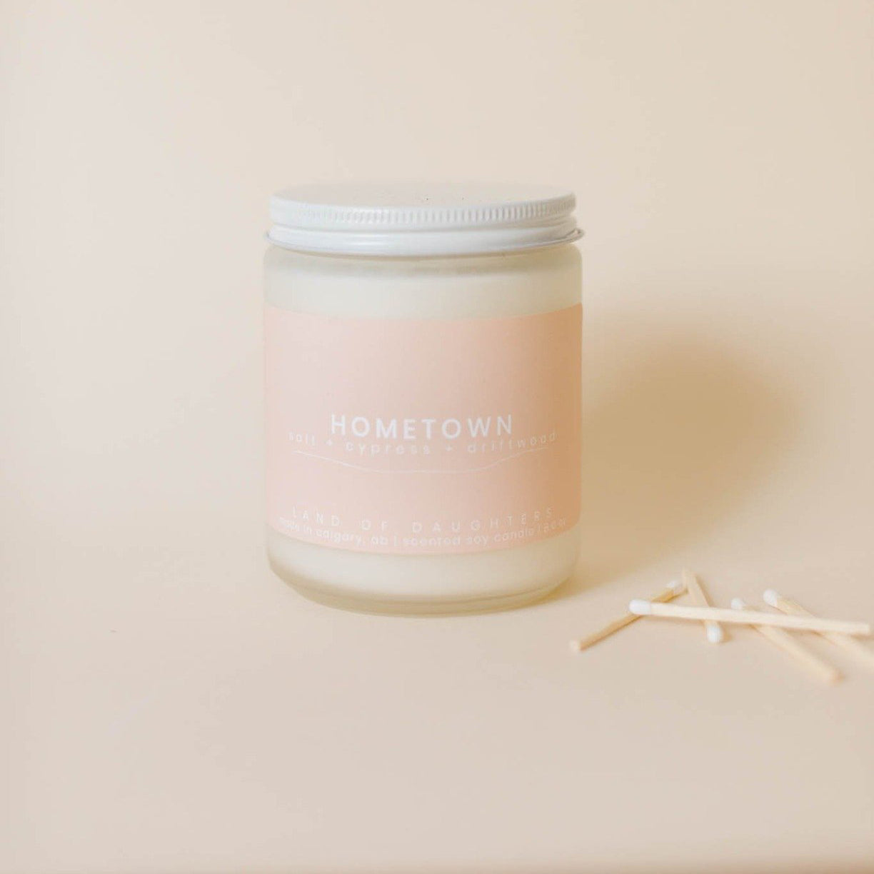 hometown (salt + cypress + driftwood) - all natural organic scented candle