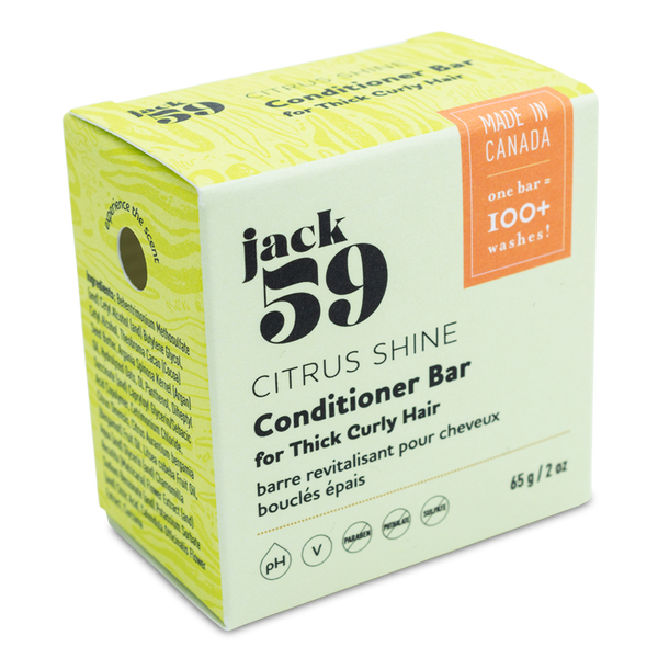 jack 59 | citrus shine vegan conditioner bar for thick curly hair