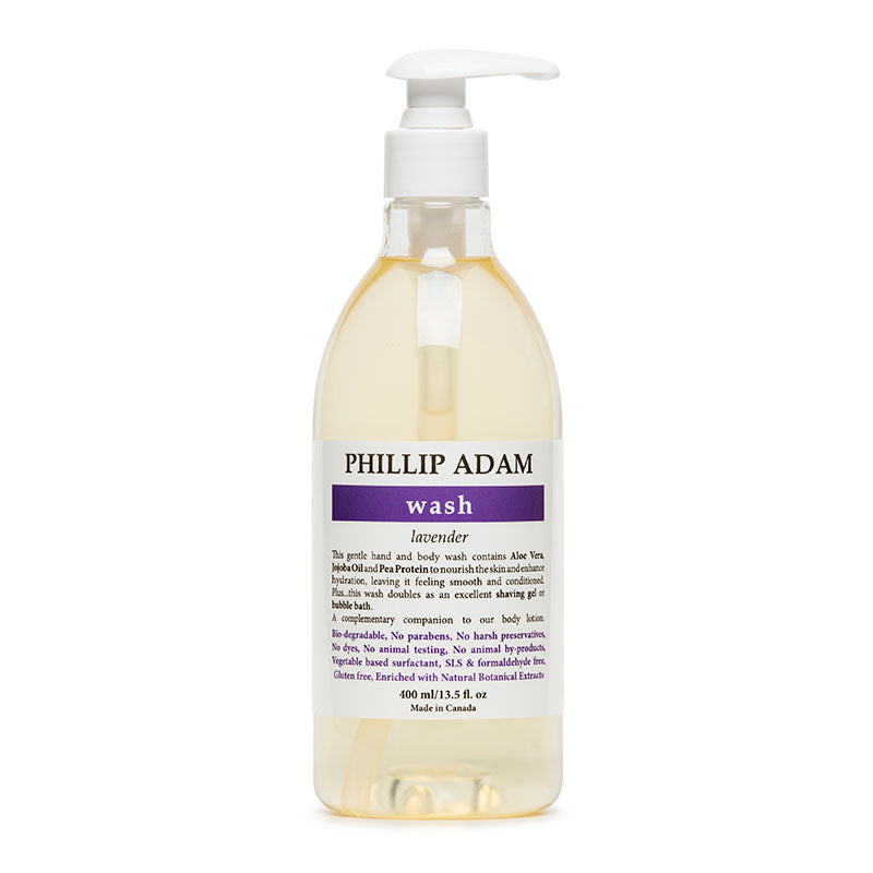 lavender organic hand and body wash | phillip adam