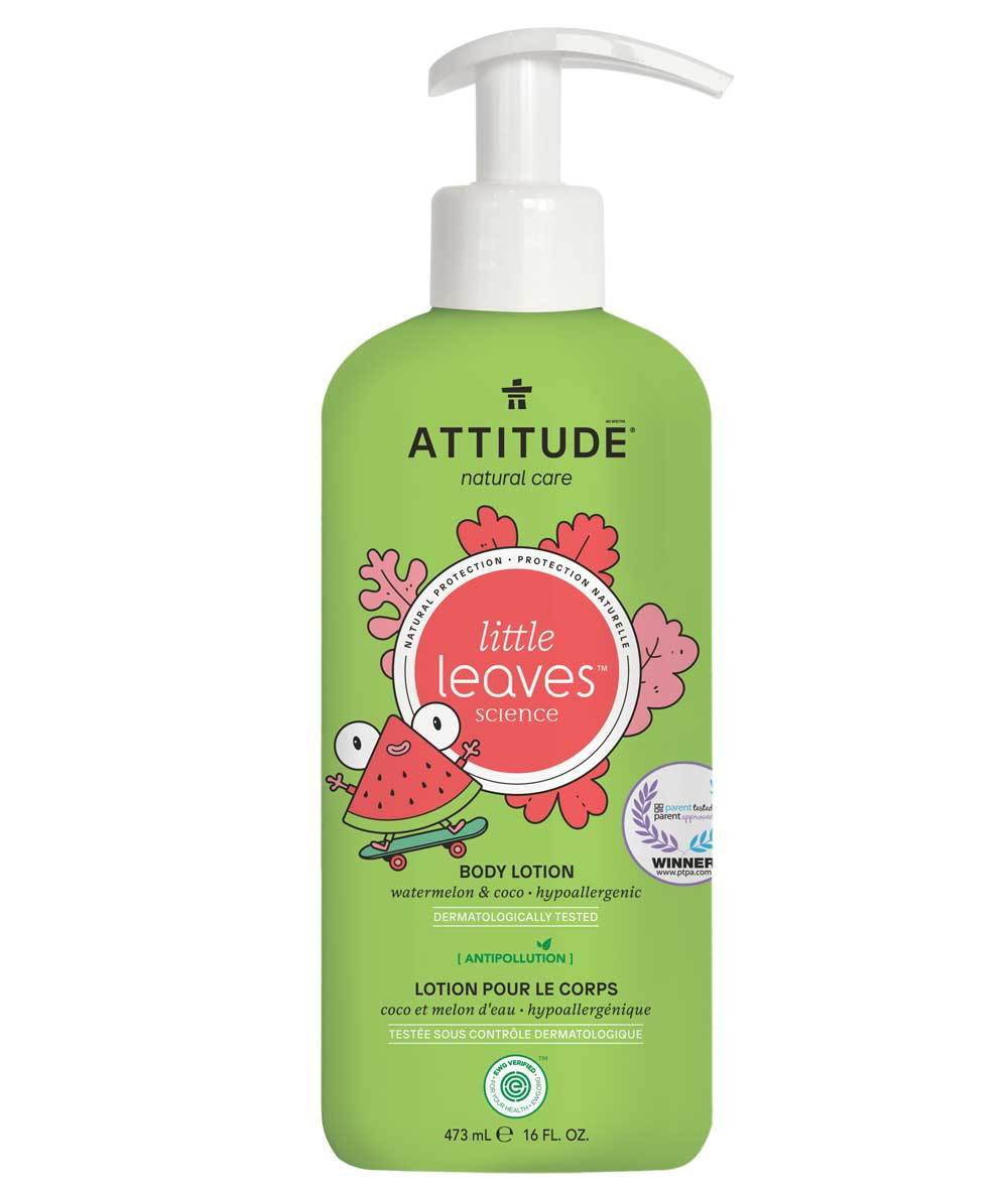 little leaves hypoallergenic kids body lotion - watermelon & coco | attitude