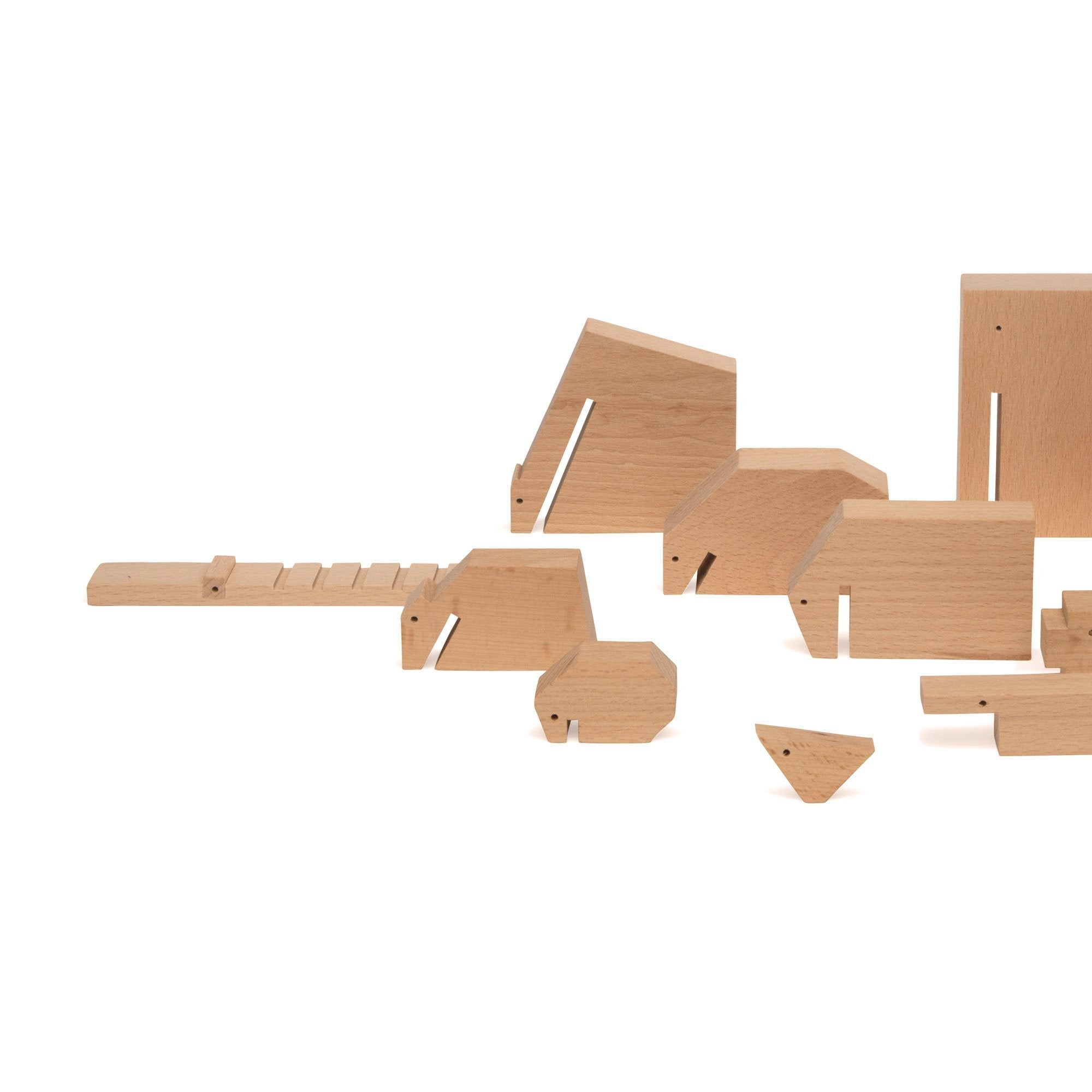 Minimal Wooden Animal Set by Floris Hovers - EcoFreax | Think Bigger.
