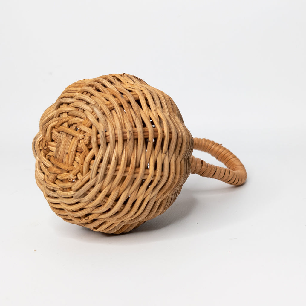 handmade natural rattan rattle - wicker toy