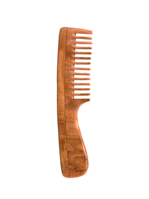 BRUSH WITH BAMBOO | pure neem wood hair comb - EcoFreax | Think Bigger.