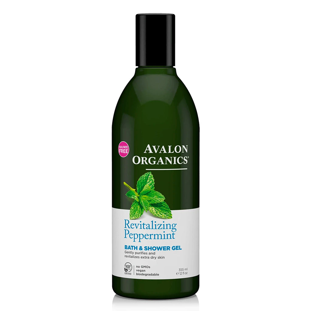 revitalizing peppermint bath & shower gel | avalon organics