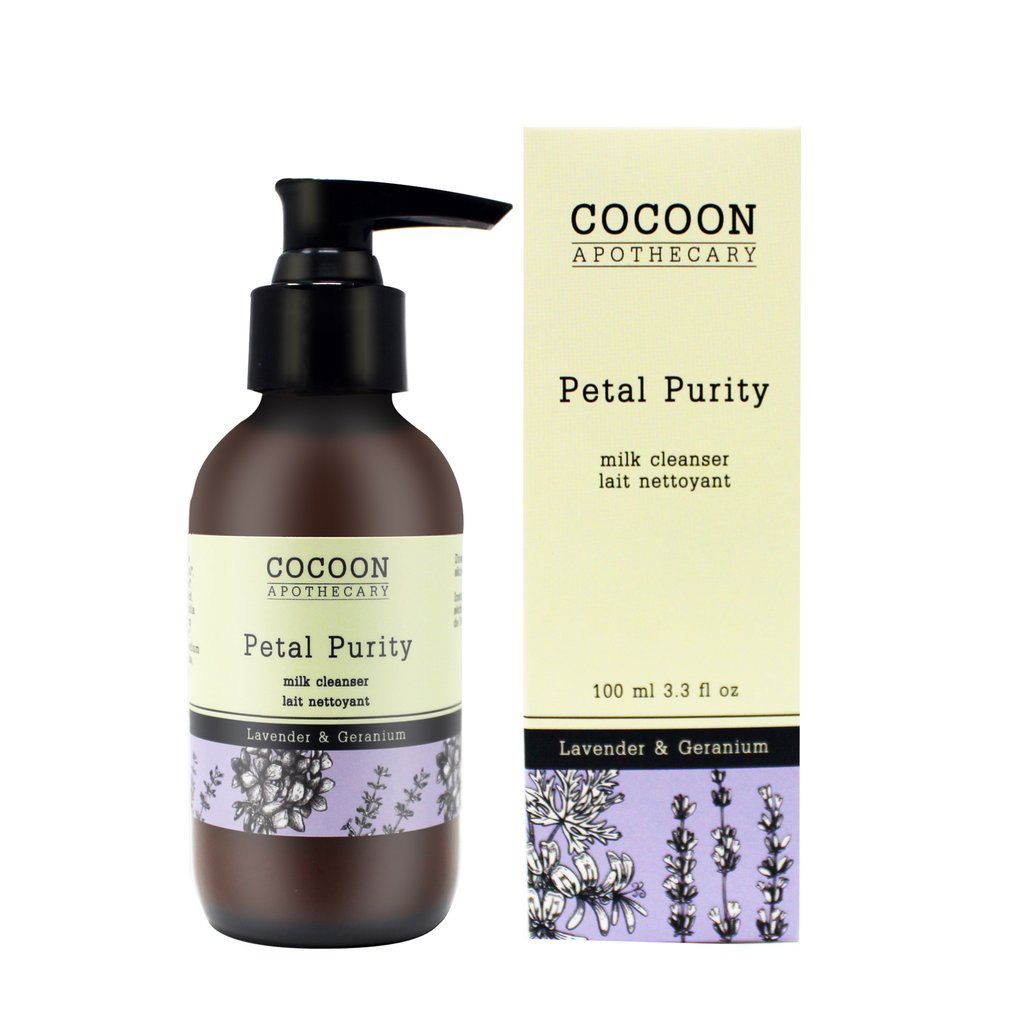 petal purity milk cleanser - all natural vegan face wash