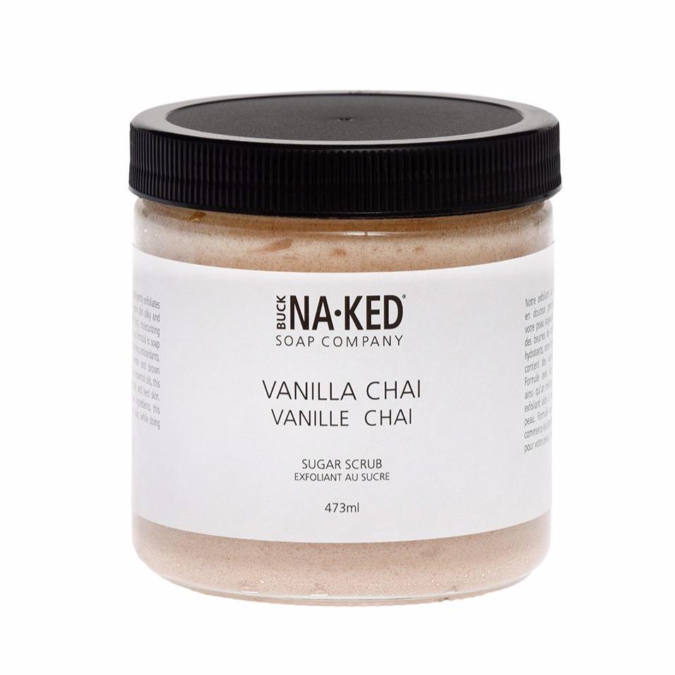 Buck Naked | vanilla chai sugar scrub - EcoFreax | Think Bigger.