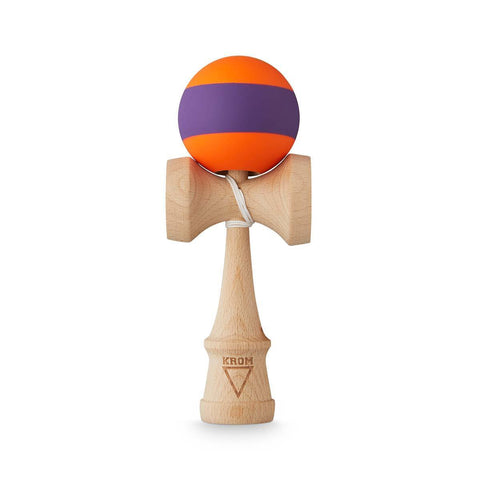 KROM Rubber Stripe Orange w. Purple kendama