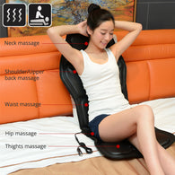 Electric Portable Heating Vibrating Back Massager Chair In Cussion Car Home Office