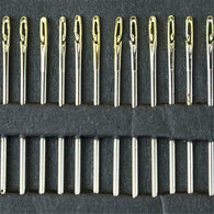 Self Threading Needles Hand Sewing Needles 12 Pieces