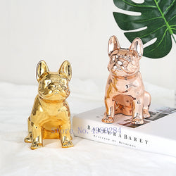 Ceramic Gold French Bulldog Piggy Bank - Stella Select