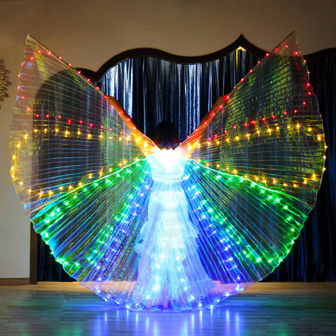 Colorful Belly Dance Performance Costume LED Wings
