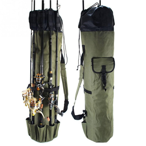 Fishing Bag Portable Multifunction Nylon Fishing Bags Fishing Rod Bag Case Fishing Tackle Tools Storage Bag