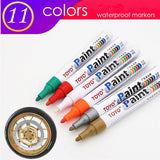1pcs  colorful marker waterproof lasting white markers tire tread rubber fabric paint metal face Permanent toyo Paint Marker Pen