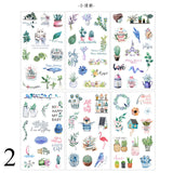 6Sheets/Pack Kawaii Stationery Stickers Cute Whale Stickers Lovely Paper Stickers For Kids DIY Diary Scrapbooking Photo Ablums
