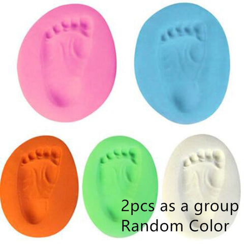Newborn footprint ink pad handprint footprint set baby souvenir casting baby hand-printed clay toy gift baby non-toxic imprint