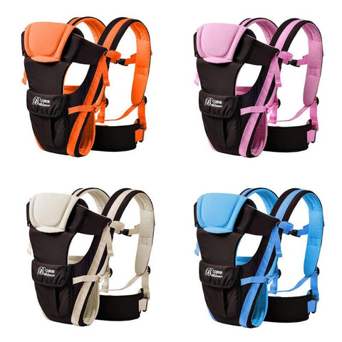 Newborn Baby Carrier Breathable Front Facing Carrier 4 in 1 Comfortable Infant Sling Backpack Pouch Wrap Baby Kangaroo Hipseat