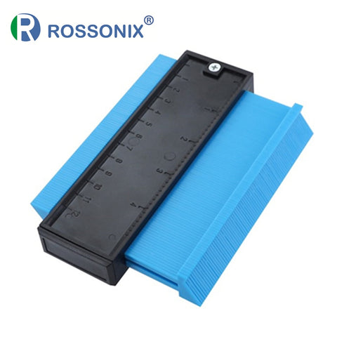 Rossonix Plastic Gauge Contour Profile Copy Gauge Duplicator Standard 5 Width Wood Marking Tool Tiling Laminate Tiles Tools