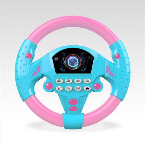 Children's Toy Simulation Small Steering Wheel Copilots Simulated Steering Toy Wheel Early Education Sounding Toy Kid Toys Gift