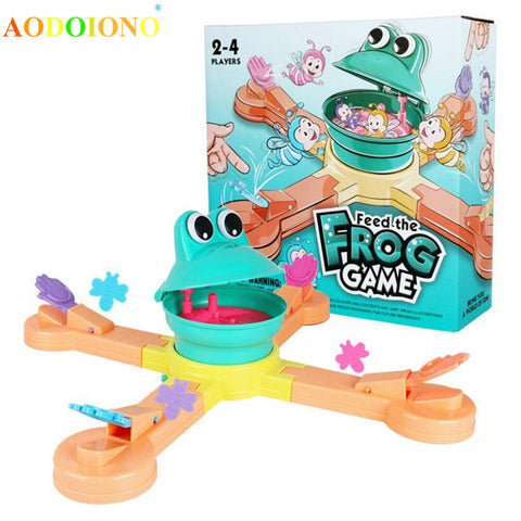 Funny Feeding Frogs To Eat Biscuits Children's Manual Educational Toys Electric Toys Family Fun Party Playing Game Toy
