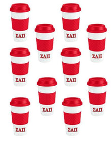 Greek Letter Travel Cup (Pack of 10 Save 20%)