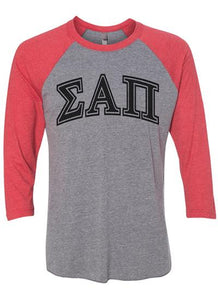 Men's Greek Letter 3/4 Tee