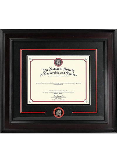Premium Wooden Certificate Plaque with Medallion