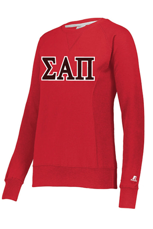Red Long Sleeve Greek Sweatshirt - Women's