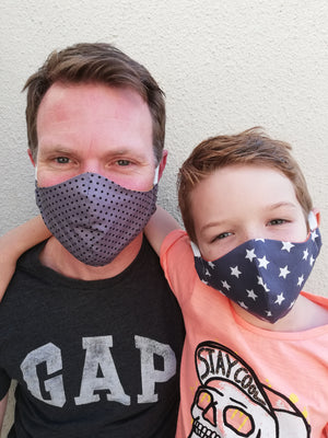 NEW Mens 2 Pack 100% Cotton Face Masks - Livy Loves