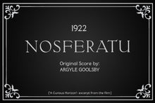 Load image into Gallery viewer, DVD/CD Combo- Argyle Goolsby- NOSFERATU WITH ORIGINAL SCORE