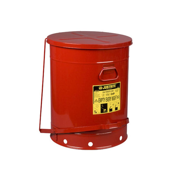 Oily Waste Can, 21 Gallon (80L), Foot-Operated Self-closing Cover - 09700