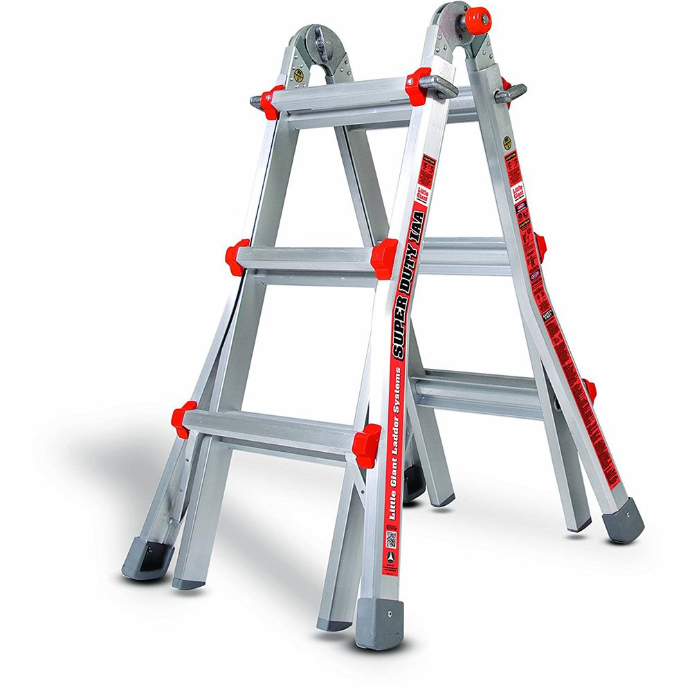 Super Duty Model 13 Aluminum Articulating Ladder - Type IAA
