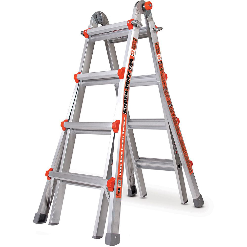 Super Duty Model 17 Aluminum Articulating Ladder - Type IAA