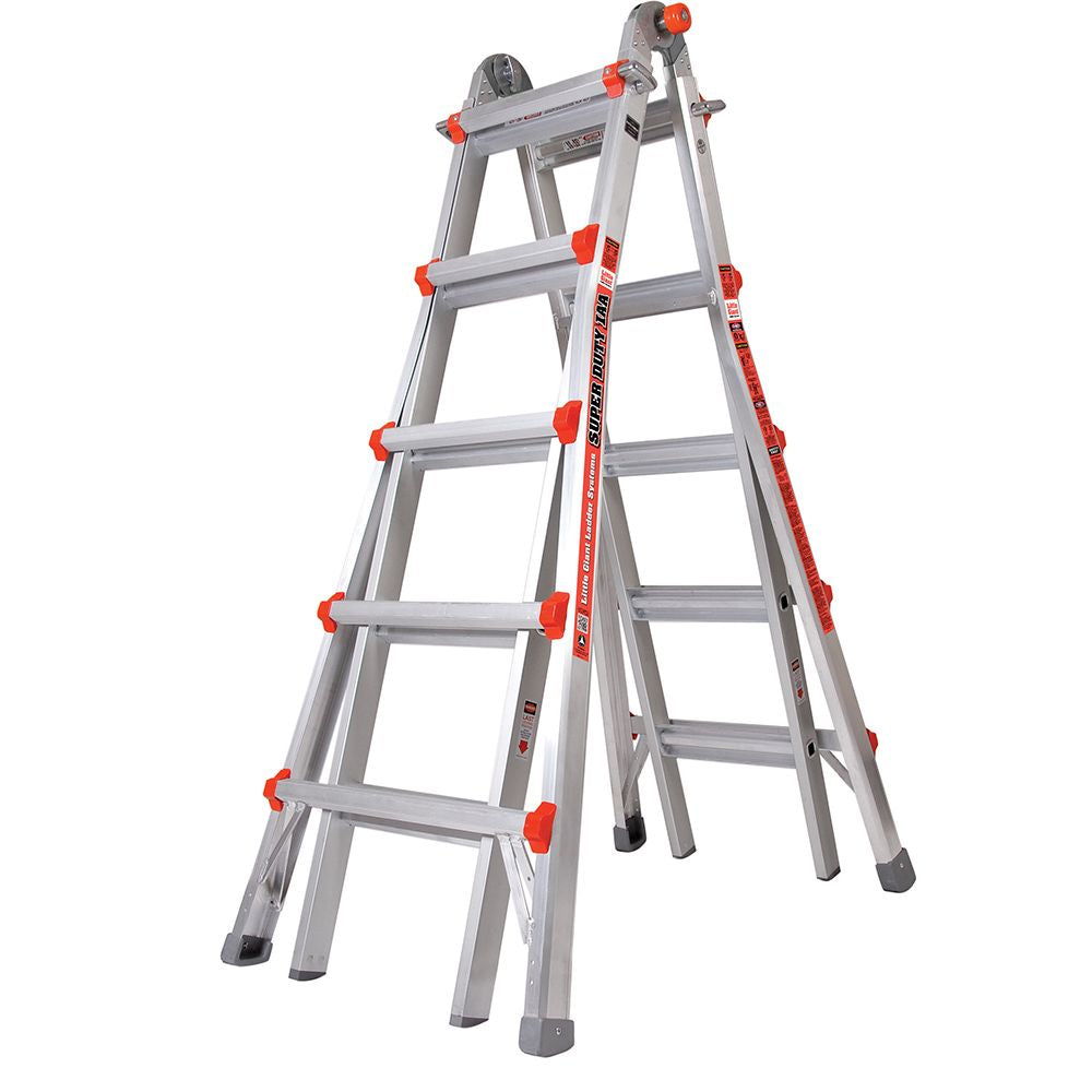 Super Duty Model 22 Aluminum Articulating Ladder - Type IAA