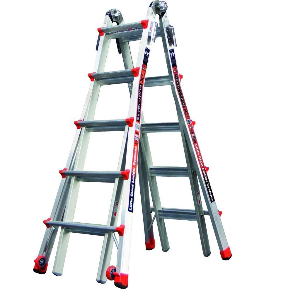 Revolution Model 22 Alum. Articulating Ladder, Trestle Brackets - IA