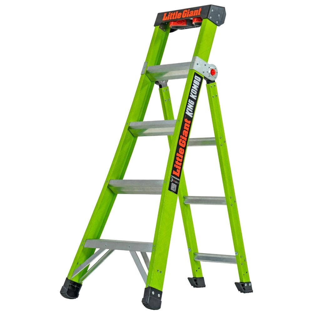 5 Ft. King Kombo Professional Fiberglass 3-In-1 Ladder - Type IAA