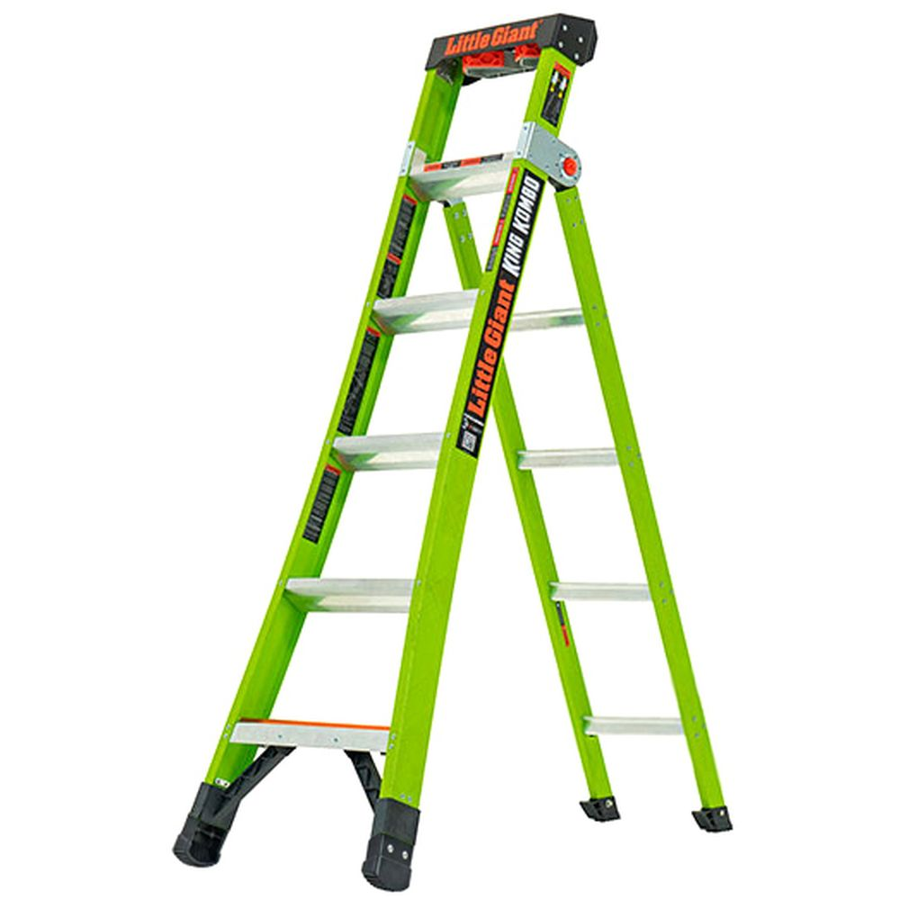 6 Ft. King Kombo Professional Fiberglass 3-In-1 Ladder - Type IAA