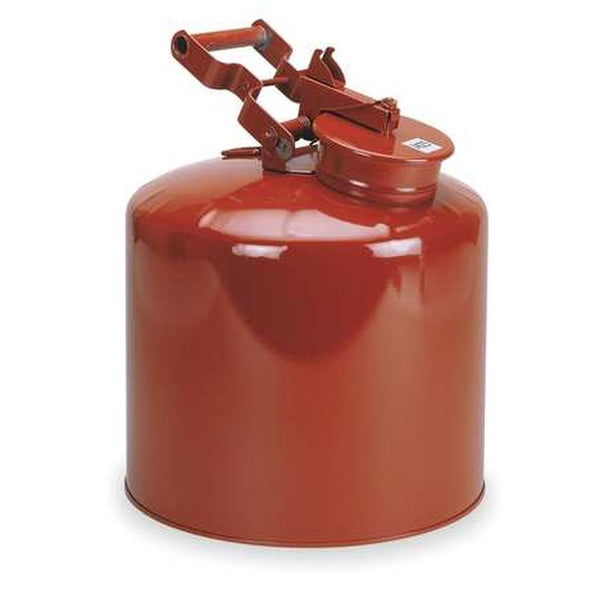 Disposal Can 5 Gal. Galvanized Steel Red