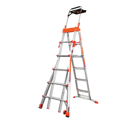 6-10 Ft. Select Step Alum. Adjustable Step Ladder, AirDeck - Type IA