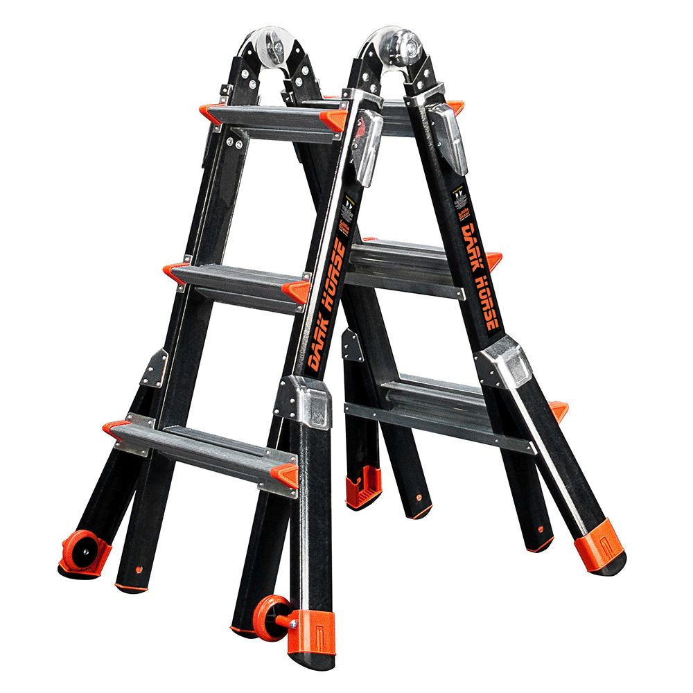 Dark Horse Model 13 Fiberglass Articulating Ladder - Type IAA