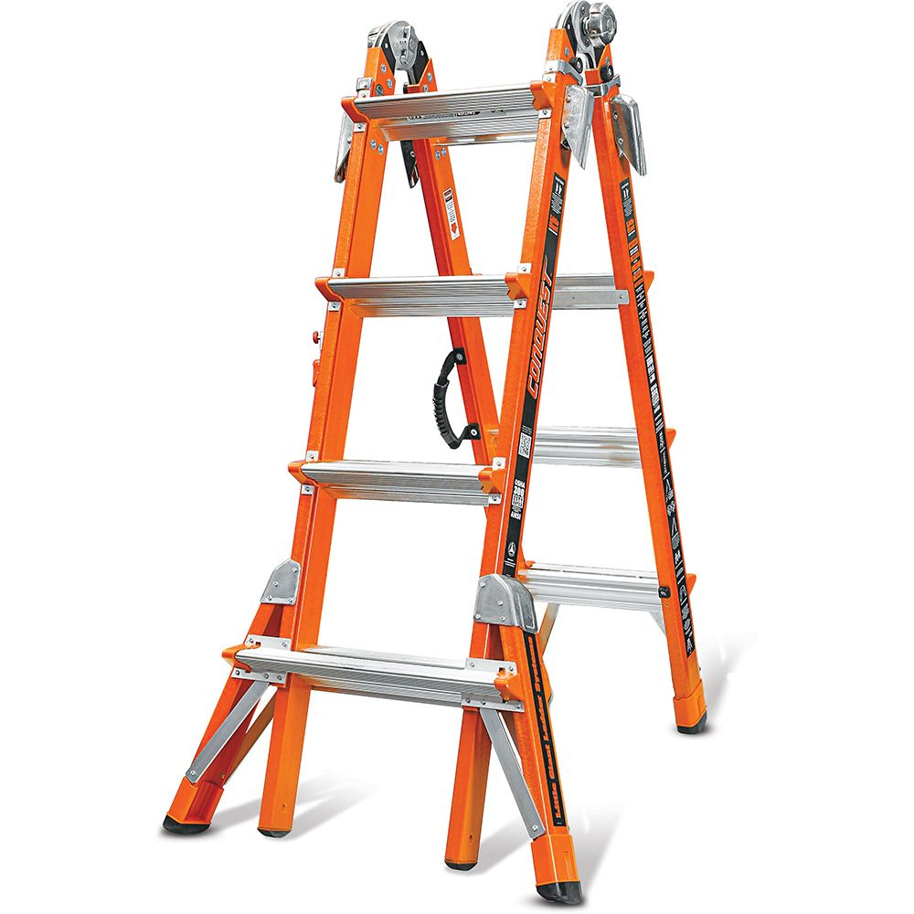 Conquest Model 17 Fiberglass Articulating Ladder - Type IA