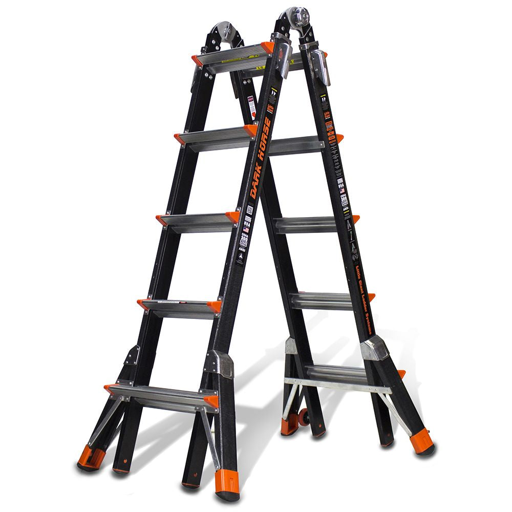 Dark Horse Model 22 Fiberglass Articulating Ladder - Type IA