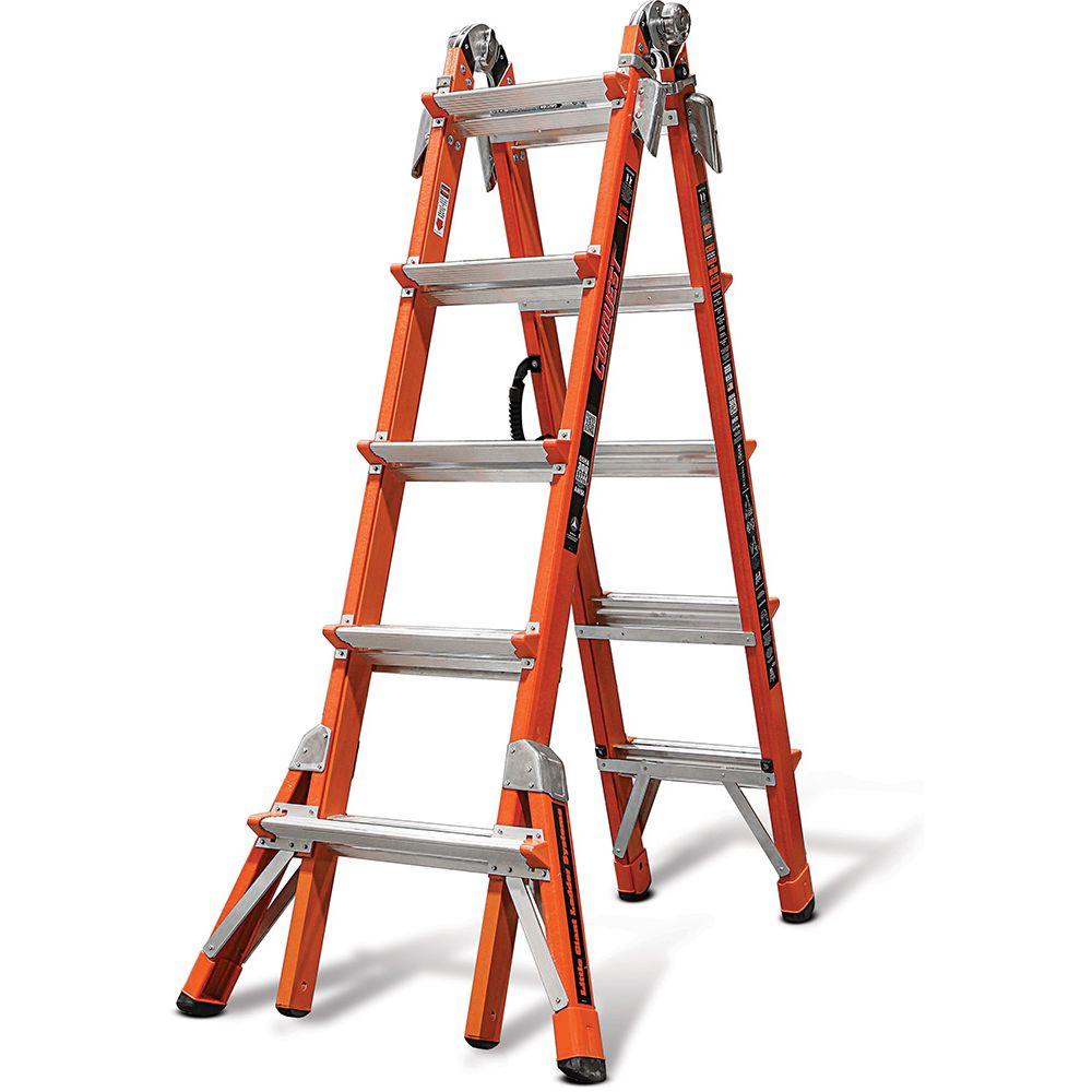 Conquest Model 22 Fiberglass Articulating Ladder - Type IA