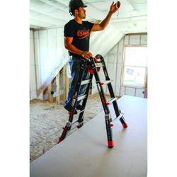 Dark Horse Model 17 Fiberglass Articulating Ladder - Type IA