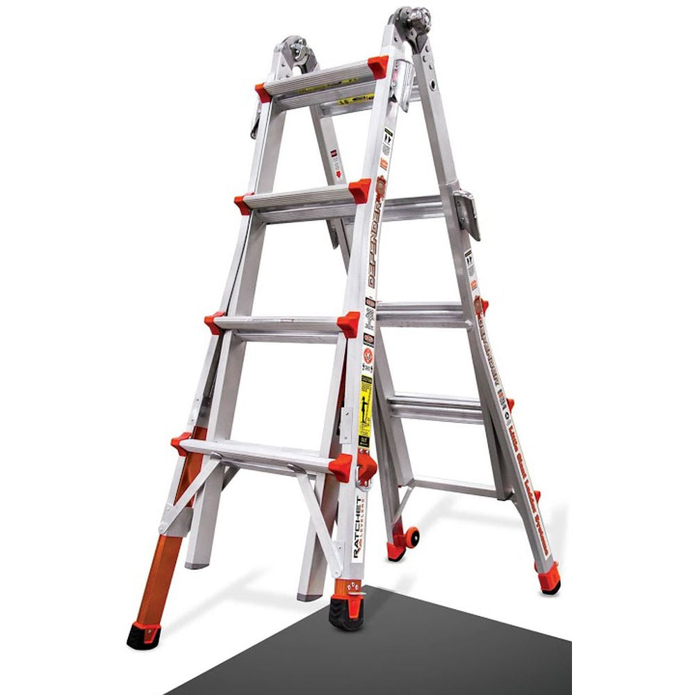Defender Model 17 Aluminum Articulating Fireman's Ladder - Type IA