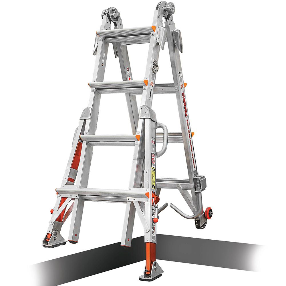 Overhaul Model 17 Aluminum Articulating Fireman's Ladder - Type IAA