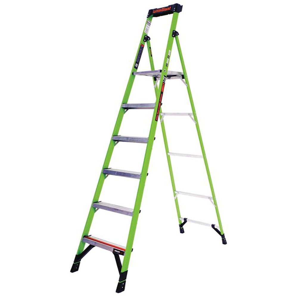 8 Ft. MightyLite Fiberglass Platform Step Ladder - Type IA