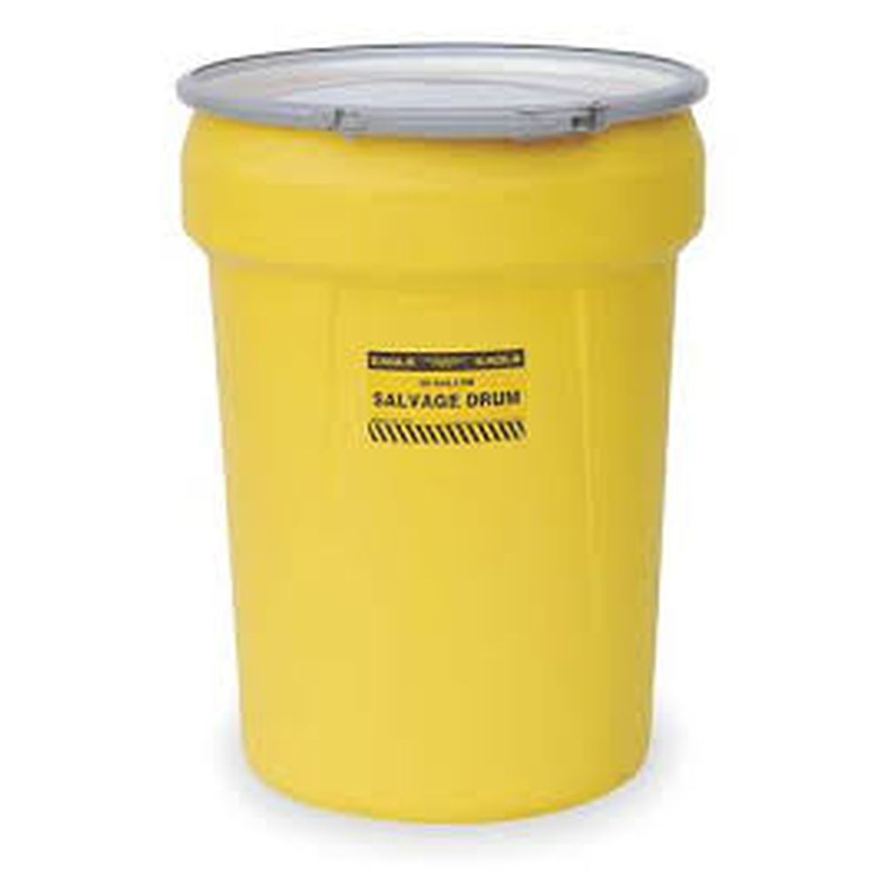 Salvage Drum 30 Gal. Yellow w/ Metal Lever-Lock Ring