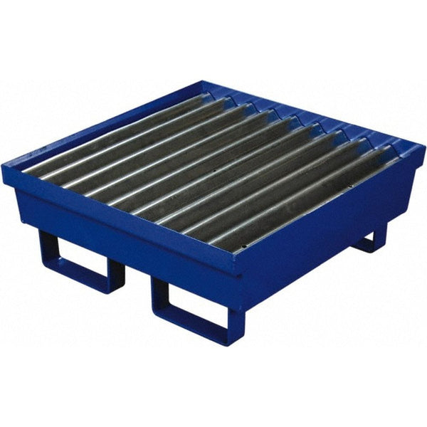 One Drum Steel Containment Pallet Blue