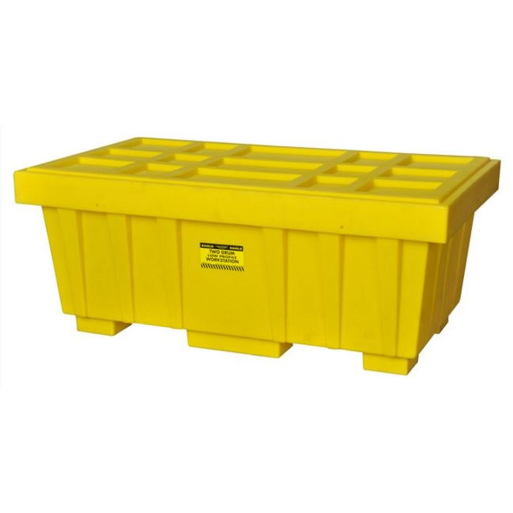 Spill Kit Box w/ Lid Yellow 110 Gallon