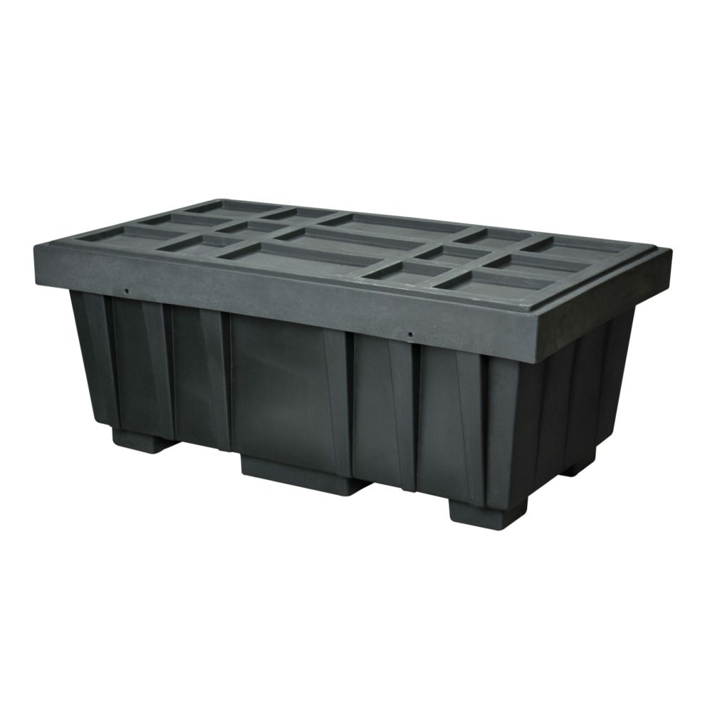 Spill Kit Box w/ Lid Black 110 Gallon